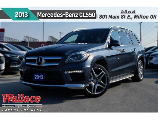 2013 MERCEDES-BENZ GL-Class 550 4MATIC/HTD CLD MASG STS/NAV/21s/14SPKR/3 SUNRF in Milton, Ontario