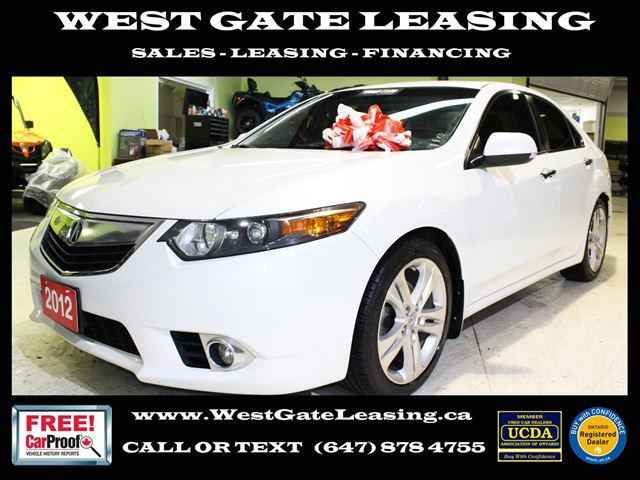 2012 Acura TSX V6  TECH PACKAGE  NAVIGATION  CAMERA  LEATHER  in Vaughan, Ontario