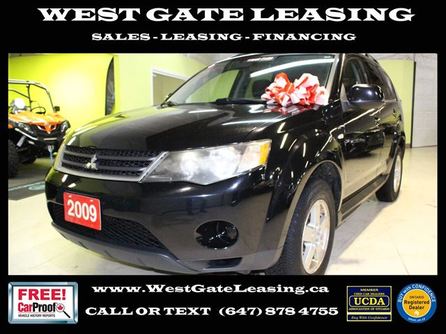 2009 Mitsubishi Outlander SE 4WD  7 PASSENGER  NO ACCIDENTS  in Vaughan, Ontario