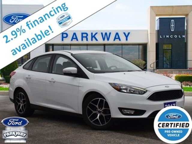 2017 Ford Focus Sel 2 9 Finance Gps Sunroof Bluetooth White