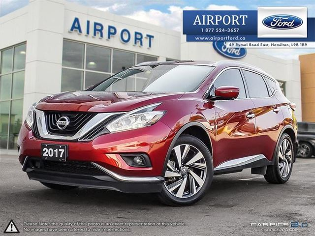 2017 NISSAN Murano AWD Platinum with only 32,122 kms in Hamilton, Ontario