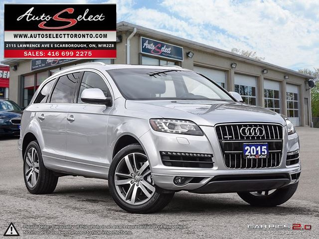 2015 AUDI Q7 7 Passenger AWD ONLY 70K! **TECHNOLOGY PKG** CLEAN CARPROOF in Scarborough, Ontario