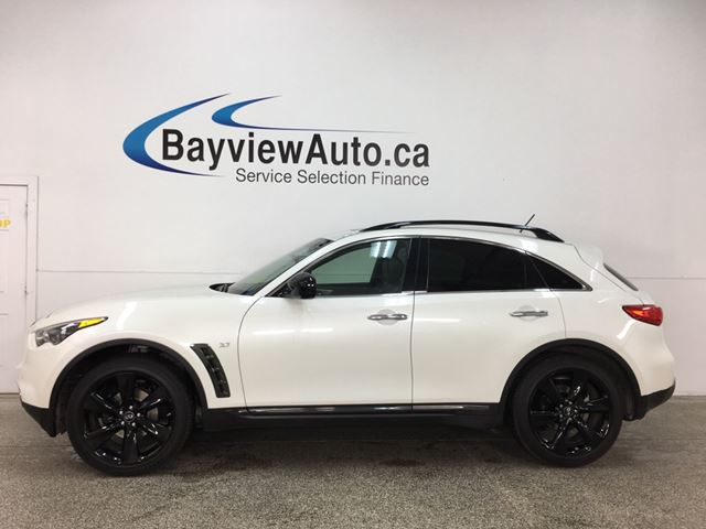 2017 Infiniti QX70 - ALLOYS! ROOF RACK! HITCH! SUNROOF! HTD LTHR! VNTLD STS! 360 CAM VIEW! BOSE SOUND! in Belleville, Ontario
