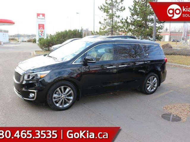 2016 KIA Sedona SXL; FULLY LOADED, SUPER LOW KMS, KEYLESS ENTRY, PUSH START, BLUETOOTH, POWER SLIDING DOORS AND TAILGATE AND MUCH MORE! in Edmonton, Alberta