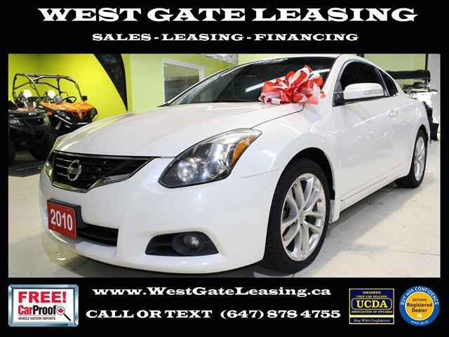 2010 NISSAN ALTIMA 3.5 SR COUPE  LEATHER  SUNROOF  HEATED SEATS  in Vaughan, Ontario