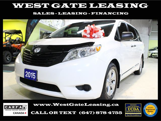 West Gate Leasing >> 2015 Toyota Sienna Camera Bluetooth Warranty 05 2020 White West