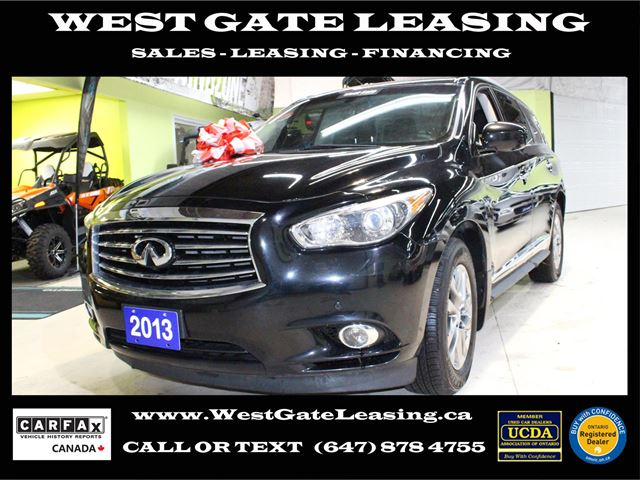 West Gate Leasing >> 2013 Infiniti Jx Navigation Camera Leather Sunroof Black