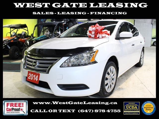 West Gate Leasing >> 2014 Nissan Sentra Auto Bluetooth Warranty 03 2020 White West Gate
