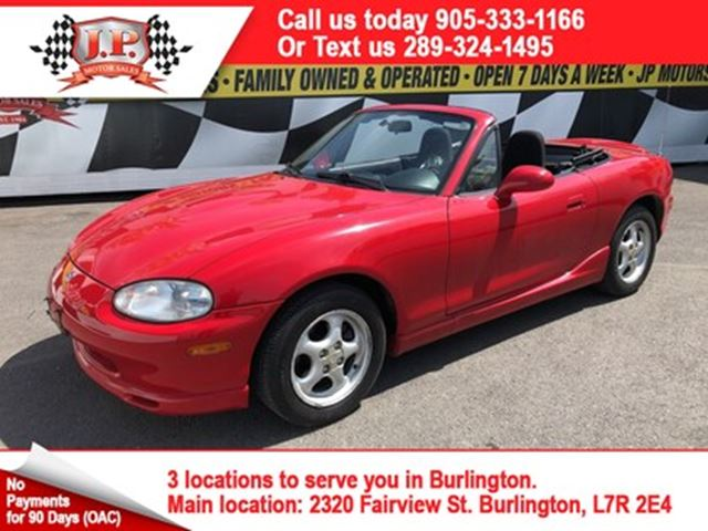 2000 Mazda MX-5 Miata  Manual, Convertible, 94, 000km in Burlington, Ontario