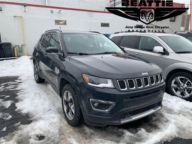 2018 Jeep Compass Limited PANO SUNROOF/ LEATHER/ NAV in Brockville, Ontario