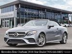 2018 Mercedes-Benz E-Class E400 4matic Cabriolet in Mississauga, Ontario