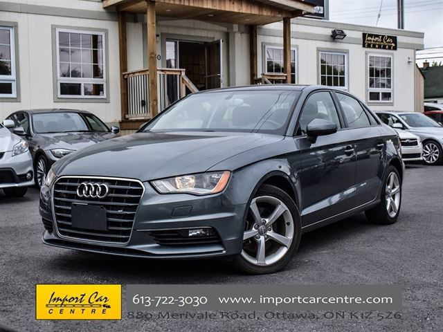 2015 AUDI A3 1.8T Komfort LEATHER ROOF HEATED SEATS in Ottawa, Ontario