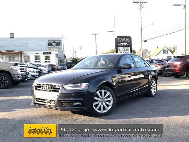 2014 AUDI A4 Komfort  QUATTRO LEATHER SUNROOF H.SEATS in Ottawa, Ontario