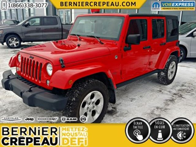 2015 JEEP Wrangler Unlimited SAHARA*2 TOITS*CUIR*GPS in Trois-Rivieres, Quebec
