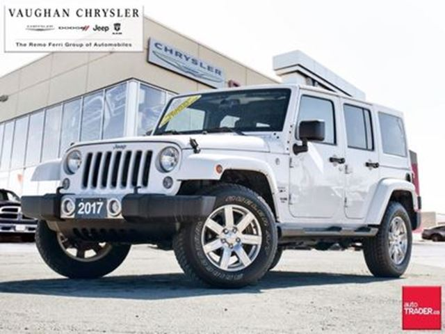 2017 JEEP Wrangler 1 Owner *Unlimited Sahara* Navigation in Woodbridge, Ontario
