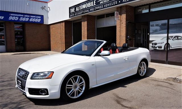 USED Audi S Convertible Premium AWD NAVI BACKUP NO ACCIDENT - All white audi
