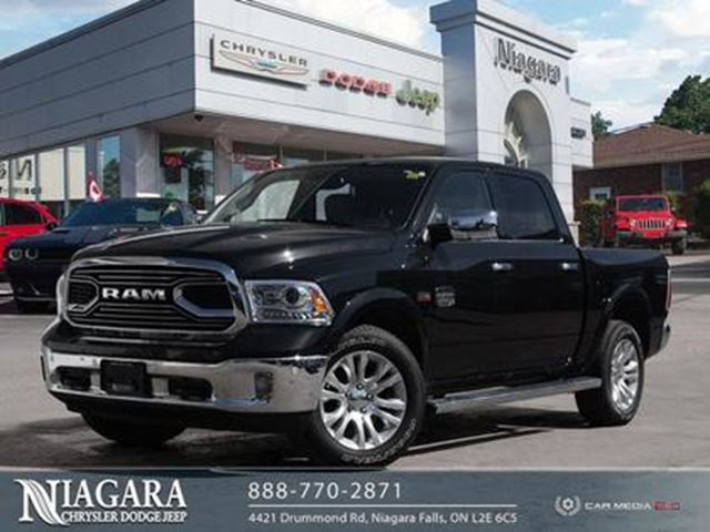 2018 DODGE RAM 1500 LARAMIE LONGHORN   LEATHER   NAV   LOCAL TRADE in Niagara Falls, Ontario