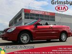 2008 Chrysler Sebring Touring1 Owner  Low KMS Bluetooth Convertible in Grimsby, Ontario