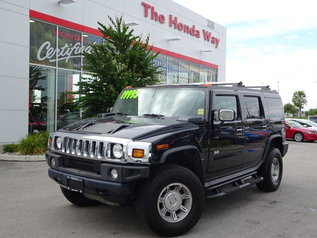 2004 HUMMER H2 Sport Utility - POWER FRONT SEATS, LEATHER, HEATED FRONT SEATS, ALLOY WHEELS, SUNROOF, ENT. SYSTEM in Abbotsford, British Columbia