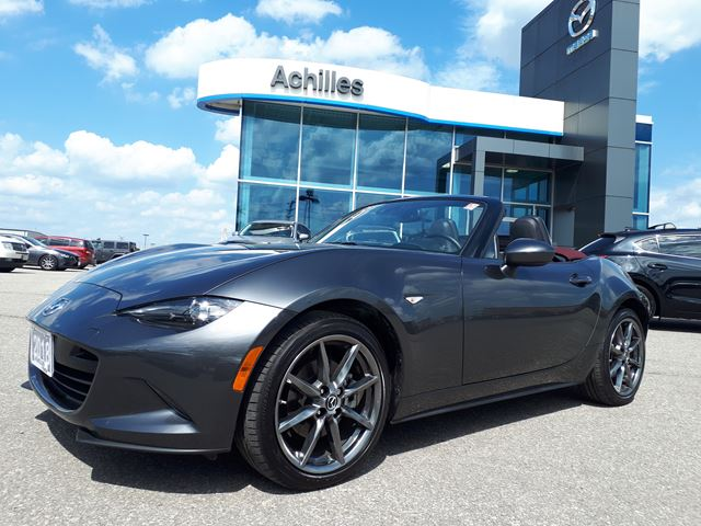 2018 MAZDA MX-5 Miata  [DEMO] GT, Auto,, Dark Cherry Roof in Milton, Ontario