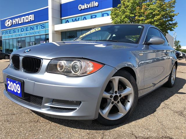2009 BMW 1 Series 128i  3.0L  LEATHER  POWER OPTION  NO ACCIDENT in Oakville, Ontario