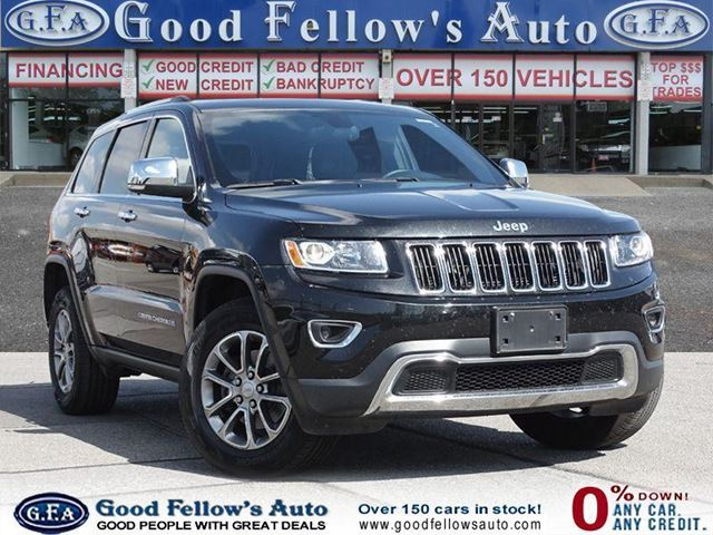 2016 JEEP Grand Cherokee LIMITED, LEATHER SEATS, SUNROOF, REARVIEW CAMERA in North York, Ontario