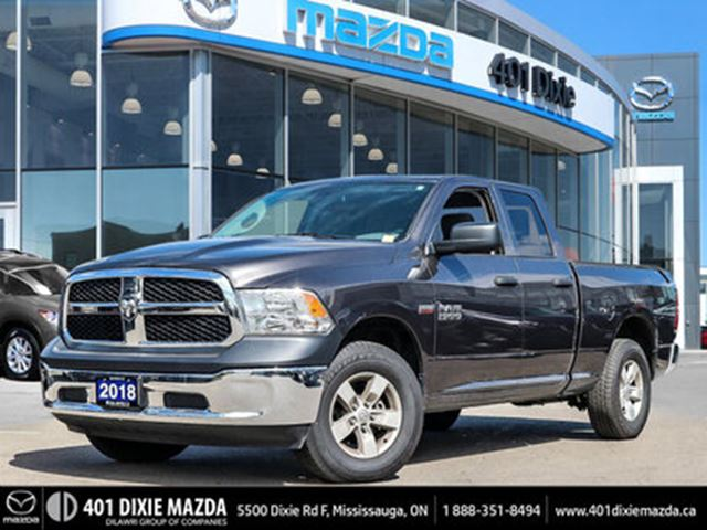 2018 DODGE RAM 1500 ST, ONE OWNER, NO ACCIDENTS in Mississauga, Ontario
