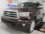 2014 Toyota Sequoia Platinum 4WD, NAV, sunroof, heated power leather seats, heated rear seats, rear climate control, rear DVD entertainment system, power liftgate in Edmonton, Alberta