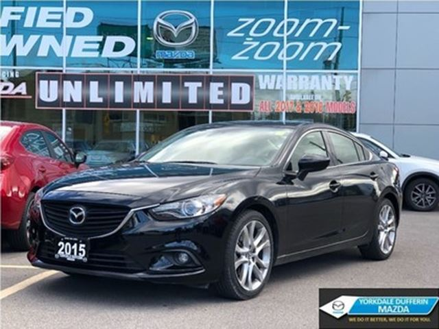 2015 MAZDA MAZDA6 GT OFF LEASE, VERY LOW KMS in Toronto, Ontario