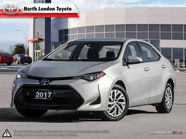 2017 TOYOTA Corolla LE Former Daily Rental. Safety features as standard are impressive for a compact entry level sedan in London, Ontario