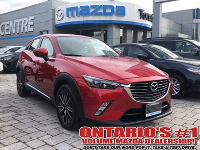 2016 MAZDA CX-3 GT-LEATHER SEATING & SUNROOF/ LOW LOW KMS !!!! in Toronto, Ontario