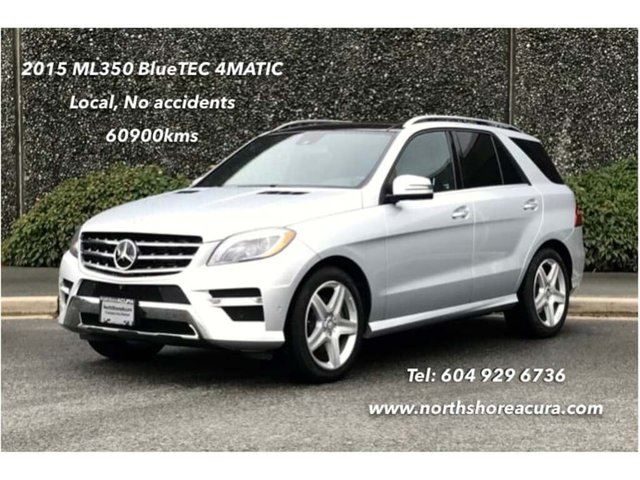 2015 MERCEDES-BENZ M-Class Bluetec 4matic SUV w/Premium, Sport & AMG, No Acci in North Vancouver, British Columbia