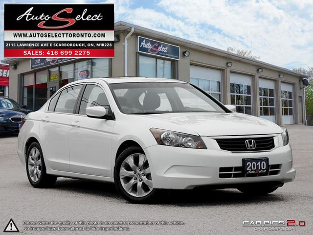 2010 HONDA Accord ONLY 92K! **EX-L MODEL** LEATHER/SUNROOF/ALLOYS in Scarborough, Ontario
