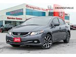 2015 Honda Civic Touring NAVIGATION BACKUP CAM SUNROOF LEATHER in Orangeville, Ontario