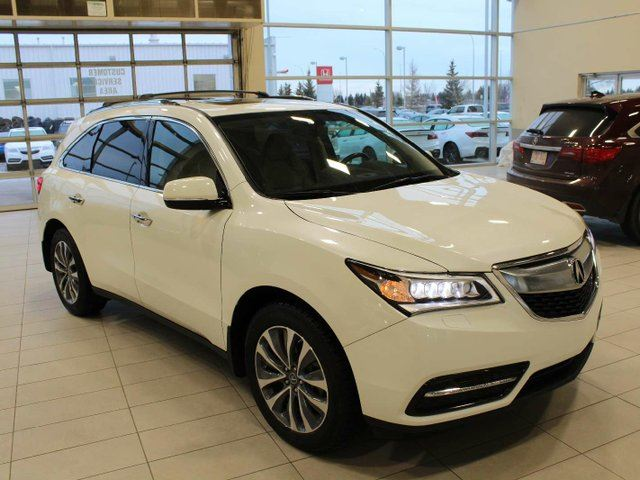 2016 ACURA MDX Tech AWD Remote Start Heated Leather in Red Deer, Alberta