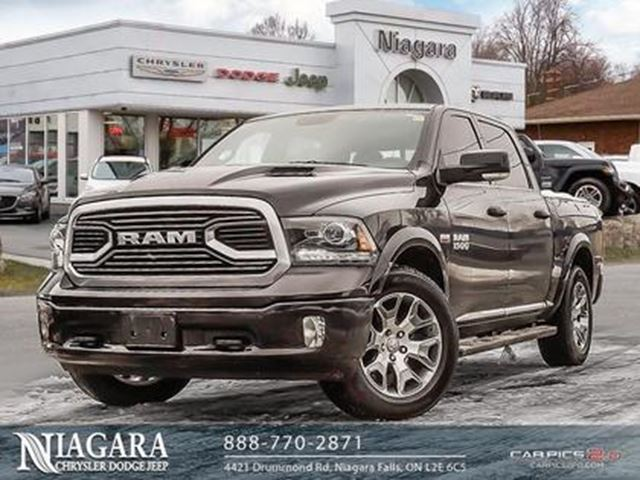 2018 DODGE RAM 1500 LONGHORN   CREW CAB   4X4   SUNROOF   LEATHER! in Niagara Falls, Ontario
