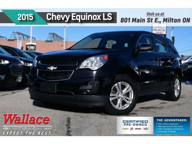 2015 CHEVROLET Equinox LS/1-OWNR/CLEAN HSTRY/7 SCRN/BLUTH/6-SPKR in Milton, Ontario