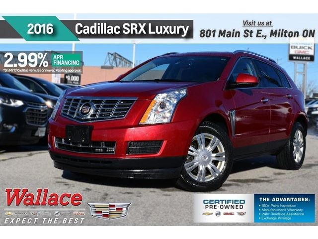 2016 CADILLAC SRX LUXURY COLLECTION/AWD/SUNRF/HTD STS/NAV/BOSE in Milton, Ontario