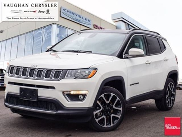 2018 Jeep Compass Limited 4x4 Panoramic Sunroof Navigation White Vaughan Chrysler Dodge Jeep Wheels Ca