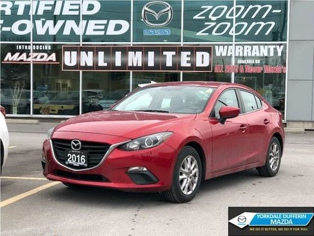2016 MAZDA MAZDA3 GS,ALLOYS,B UP CAM,H SEATS,B T,ACCIDENT FREE in Toronto, Ontario
