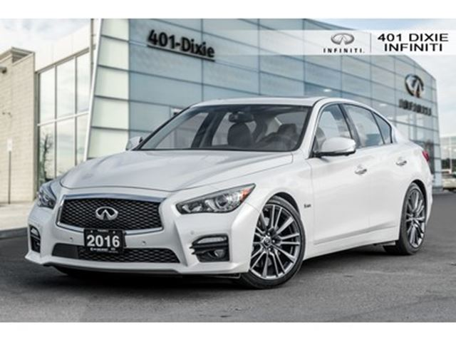2016 INFINITI Q50 Red Sport! Tech! Blind Spot! Navi! 360 Cam! in Mississauga, Ontario