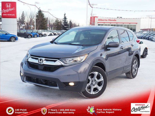 2018 HONDA CR-V EX-L. AWD. Turbo. Sunroof. Clean Carproof. Dual Climate. Heated Leather Seats. HomeLink. Back-up and Lane Watch Cameras in Edmonton, Alberta