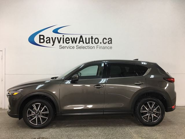 2018 MAZDA CX-5 GT - SUNROOF! PUSH START! HTD LEATHER! REVERSE CAM! BOSE SOUND! BSA! PWR LIFTGATE! in Belleville, Ontario