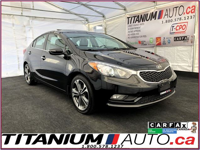 2015 KIA Forte SX+-Camera-GPS-Sunroof-Leather Vented Heated Seats in London, Ontario