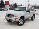 2004 Jeep Liberty Limited. 4x4. Heated Leather Seats. HomeLink. Pioneer Stereo in Edmonton, Alberta