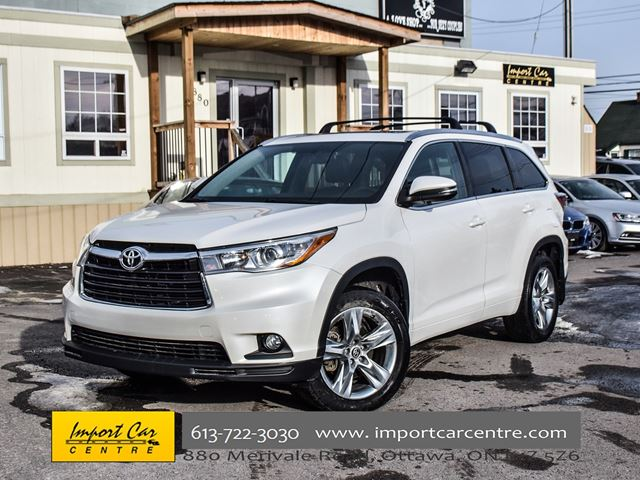 2016 TOYOTA Highlander Limited CAPT CHAIRS NAVI JBL PANO ROOF WOW!! in Ottawa, Ontario