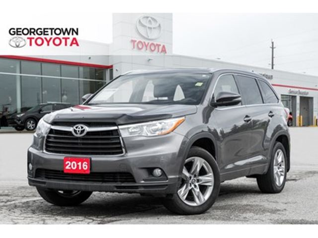 2016 TOYOTA Highlander Limited NAVIGATION BACKUP CAM PANO ROOF LEATHER in Georgetown, Ontario