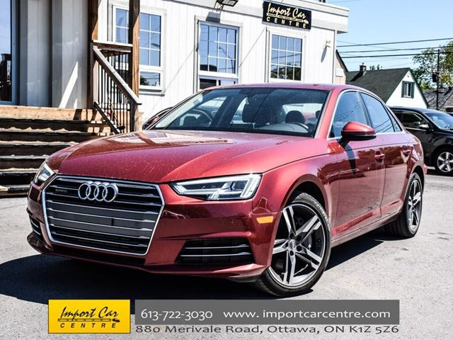2017 AUDI A4 Technik NAV H.STEER BK.CAM SIDE ASSIST WOW!! in Ottawa, Ontario