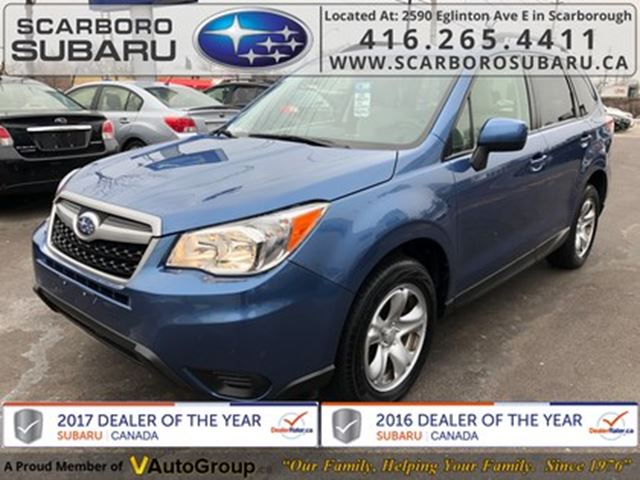 2015 SUBARU Forester 2.5i, FROM 1.9% FINANCING AVAILABLE in Scarborough, Ontario