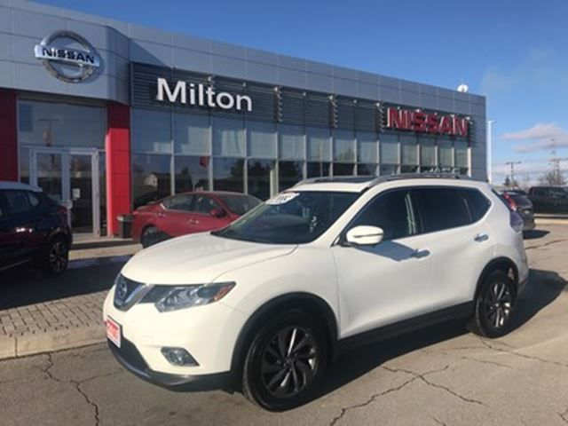 2016 NISSAN Rogue SL LEATHER & NAVI in Milton, Ontario